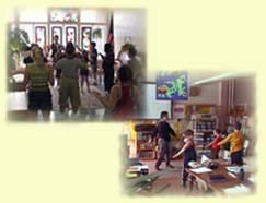 Tai Chi with Diana Gillet and  students at Clark St. Learning Center.